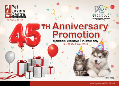 45th Anniversary Promotion for Members